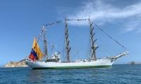 El Buque ARC Gloria de la Armada de Colombia arribó a Santa Marta a las 11:00 de la mañana.