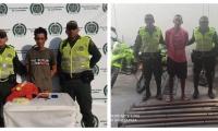 Los aprehendidos fueron identificados como Jefrín Madrid Caro, de 32 años de edad y Jairo Mesa de 31 años de edad.