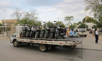 Motos inmovilizadas en el Distrito