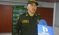 Comandante de la Policía Metropolitana de Santa Marta, coronel Óscar Solarte Castillo