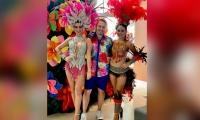 Mauricio Rivera en su presentación en Carnaval.