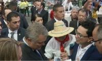 Diálogo entre el gobernador Caicedo y el presidente Duque.