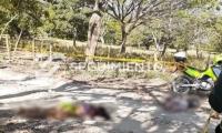 Escena del crimen en La Guajira.