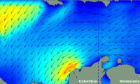 El frente frío provoca vientos de 27 nudos y olas de 2 a 3 metros.