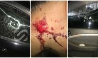 Con una piedra partieron el vidrio e hirieron a uno de los pasajeros.