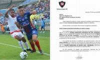 En el documento se especifica el interés del equipo paraguayo por el delantero samario.