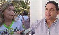 Virna Johnson y el senador Honorio Henríquez.