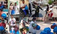 Labor realizada con ayuda de la policía.