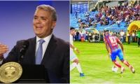 """""""Por más que la Dimayor (División Mayor del Fútbol Colombiano) diga que este camino es posible, yo tengo que privilegiar la salud de los jugadores""""."""