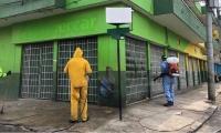 Desinfección del Mercado Público.