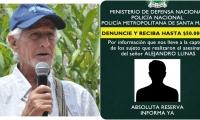 Ofrecen 50 millones de pesos para dar con los responsables del asesinato del líder social samario.