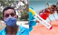 El líder comunal confesó que varias personas han muerto a causa del borote de dengue.