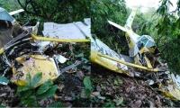 Avioneta accidentada.