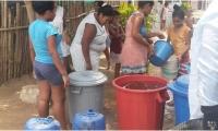 Solo una comunidad fue beneficiada con el suministro de agua.