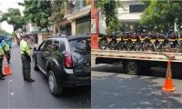 La seccional ha interpuesto 734 comparendos 433 corresponden a motocicletas y 301 a vehículos por transitar de manera prohibida, sumando 254 comparendo por otras infracciones