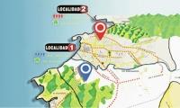 Mapa de las localidades