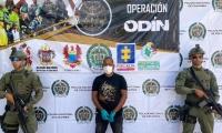 Alias Kevin o El Gordo, detenido por las autoridades de Policía.
