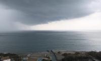 Así se vio venir el aguacero de este jueves en Santa Marta.