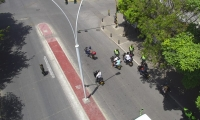 El patrullaje se realizó en diferentes sectores de la ciudad.