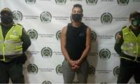 Joven capturado por las autoridades.
