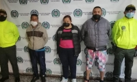 Luis Eduardo Montenegro Peña, Lorena Patricia Sabogal y Jonathan Camilo Ruiz Lara, capturados.