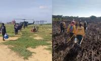 Bomberos reinician labores de control en incendio forestal en Isla Salamanca.
