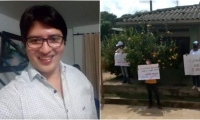 El alcalde se defendió ante la protesta que tuvo la participación del concejal Kevin Martínez.