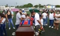 Familiares y amigos despidieron al exarquero del Unión en La Castellana.