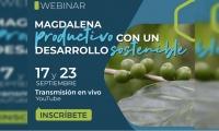 Invitación al Webinar Magdalena Productivo con un Desarrollo Sostenible.