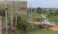 Trabajos de operarios de Electricaribe.
