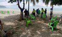 Playas de Santa Marta previo a la reapertura.