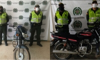 Las motos recuperadas, fueron dejadas a disposición de las autoridades solicitantes, quienes iniciaran los procesos judiciales y posteriormente ser devueltas a su propietarios.