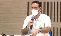 Jaime Noguera Serrano, vicerrector fianciero, durante la transmisión con estudiantes de la Unimagdalena.