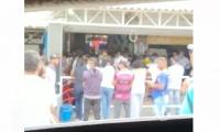 Este es el momento en que celebran el velorio público en Río Frío.
