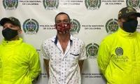 Edmar Aibardo Giraldo Areiza, presunto responsable de la desaparición y posterior asesinato de un adulto mayor y su sobrina de 34 años