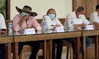 Consejo de Seguridad en Santa Marta donde participaron varios alcaldes de los municipios del Magdalena