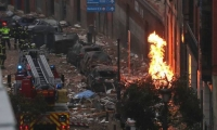 Lugar de la explosión en Madrid.