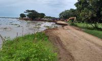 La erosión sigue tomando más terreno.