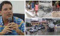 Palacio ha denunciado insistentemente los rebosamientos de aguas de alcantarilla.