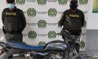 Una de las motos recuperadas por las autoridades