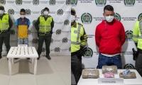 Los capturados deberán responder por e delito de tráfico de estupefacientes.