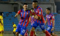 Celebración del gol del Unión Magdalena.