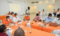 Consejo Departamental de Gestión del Riesgo analizó soluciones para erosión en municipios del Magdalena.
