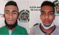 Los sujetos fueron interceptados por los investigadores de la Sijín cuando transitaban por el barrio Las Palmas.