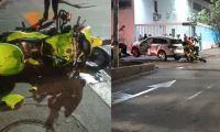 Aspecto del accidente en la calle 76 con carrera 71.