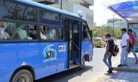Paro de buses en Santa Marta