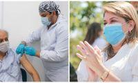 Virna Johnson respondió sobre las vacunas en Santa Marta.