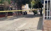 Lugar donde ocurrió el atentado a bala.