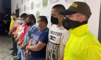 Los siete sindicados por narcotráfico.