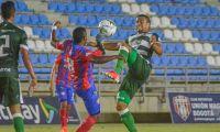 Acciones del partido entre Unión y Valledupar F.C.